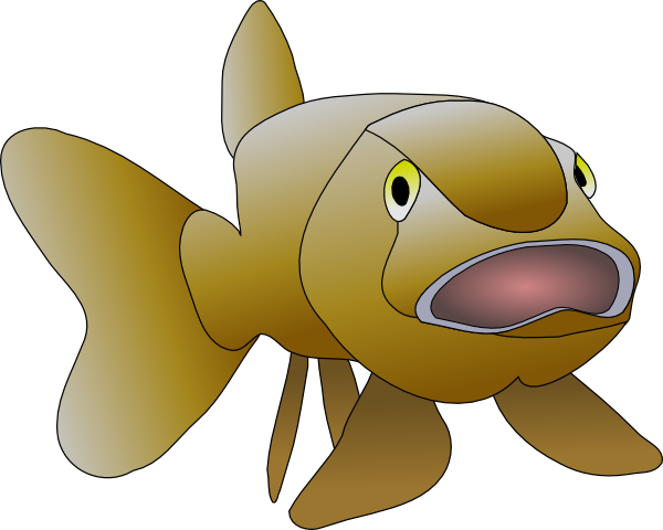 Sad fish png. Brown clip art at