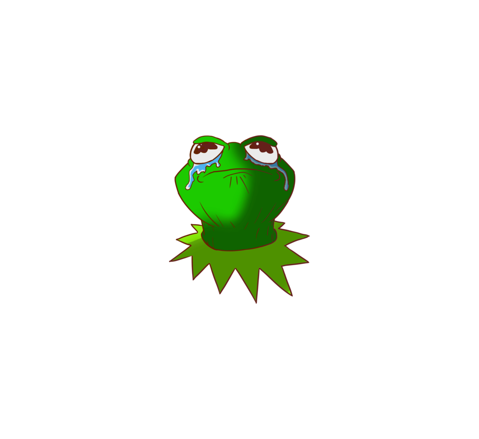 Toad transparent sad. Kermit the frog by