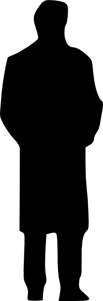 Person svg shadow. Silhouette of a man