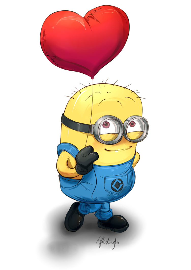 Sad minion png. Love me by afterlaughs