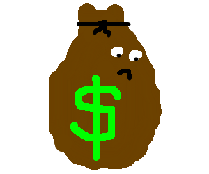 Sad money png. Bag drawing by naerie