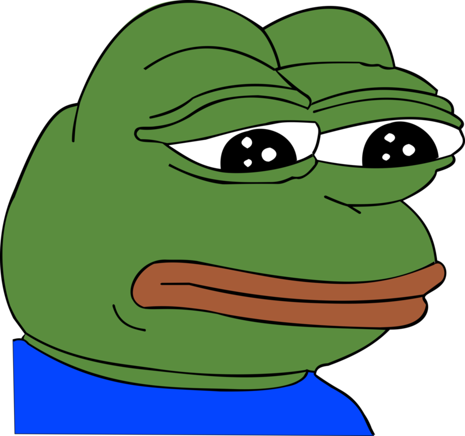 Sad pepe head png. Grand by funestalilium on