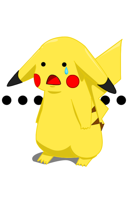 Sad pikachu png. Face is by chibiilliterate