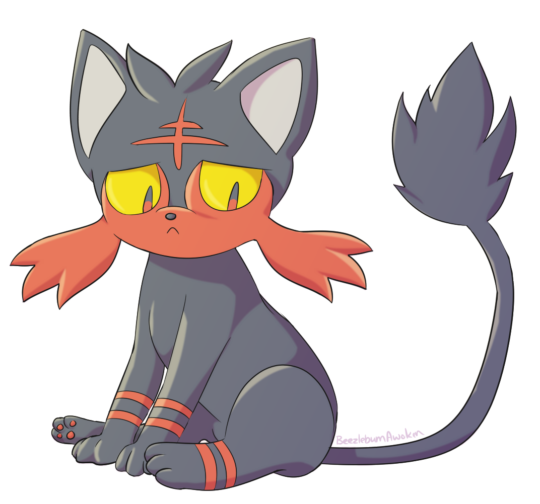 Sad pokemon png. Litten weasyl