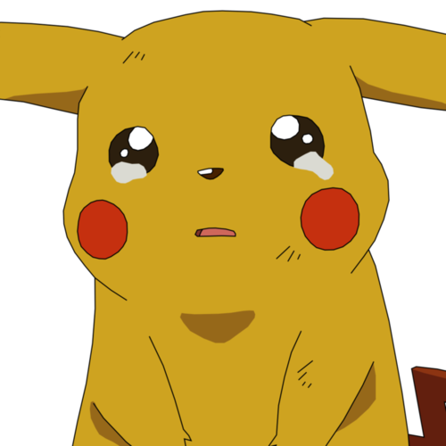 Sad pokemon png. Pikachu crying chorando on