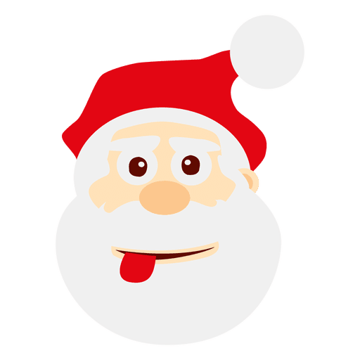 Vector santa angry. Cheeky claus emoticon transparent