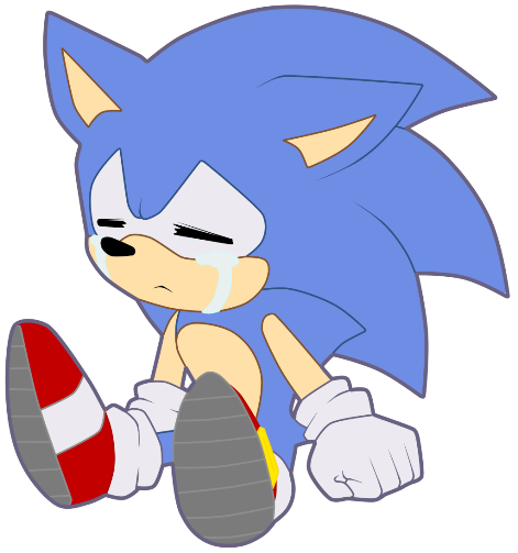 Sad sonic png. T by myly on