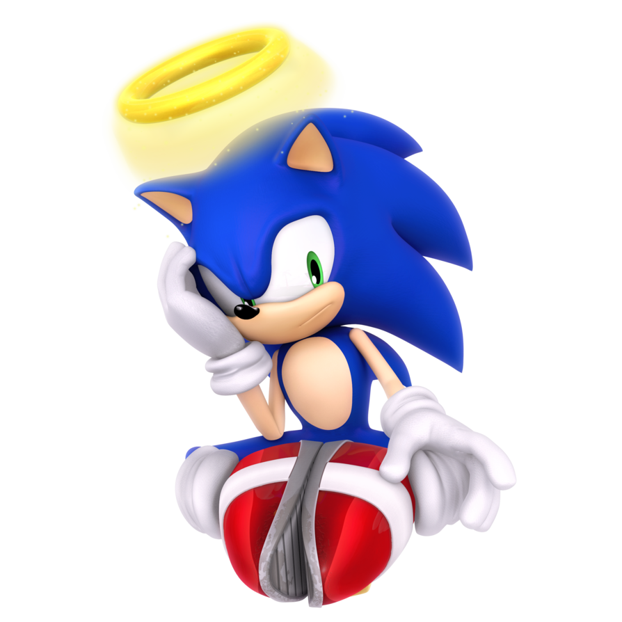 Sad sonic png. Angel render by nibroc