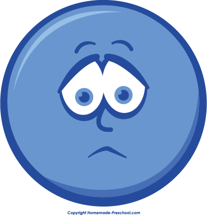 Sadness clipart. Disappointed face pencil and