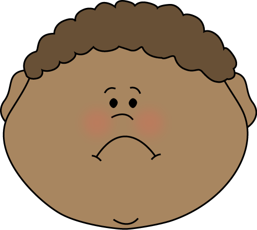 Sadness clipart head. Emotions clip art images