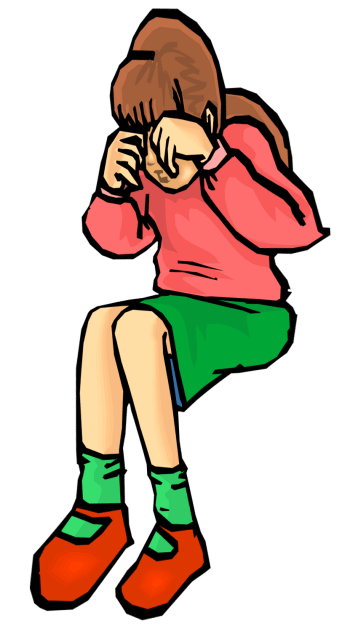 Sadness clipart lonely student. Sad girl clip art