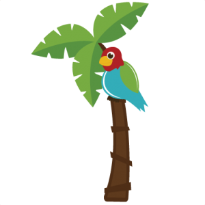 Safari clipart parrot. In palm tree svg