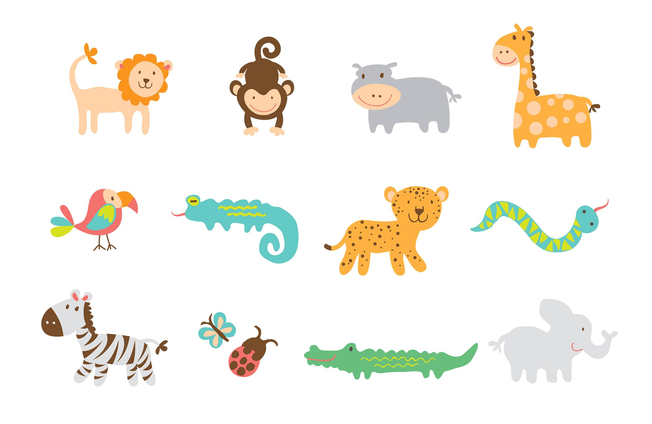 Safari clipart wild safari. Vector animal graphics graphic