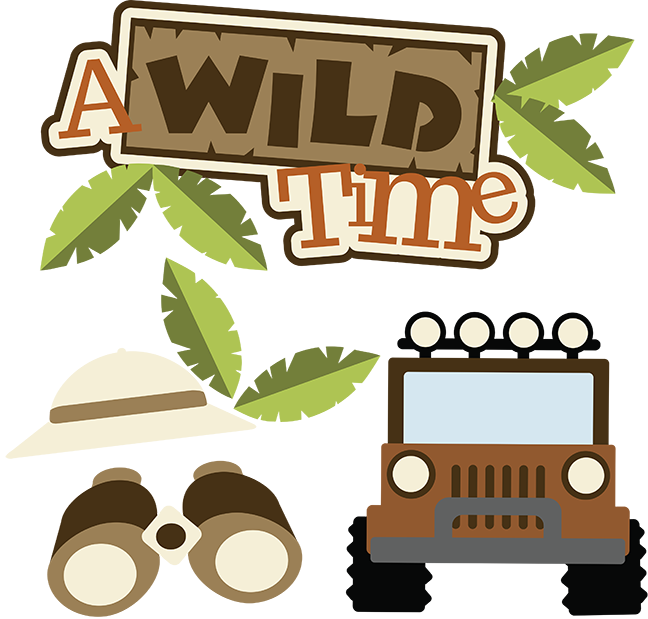 Safari clipart wild safari. A time svg scrapbook