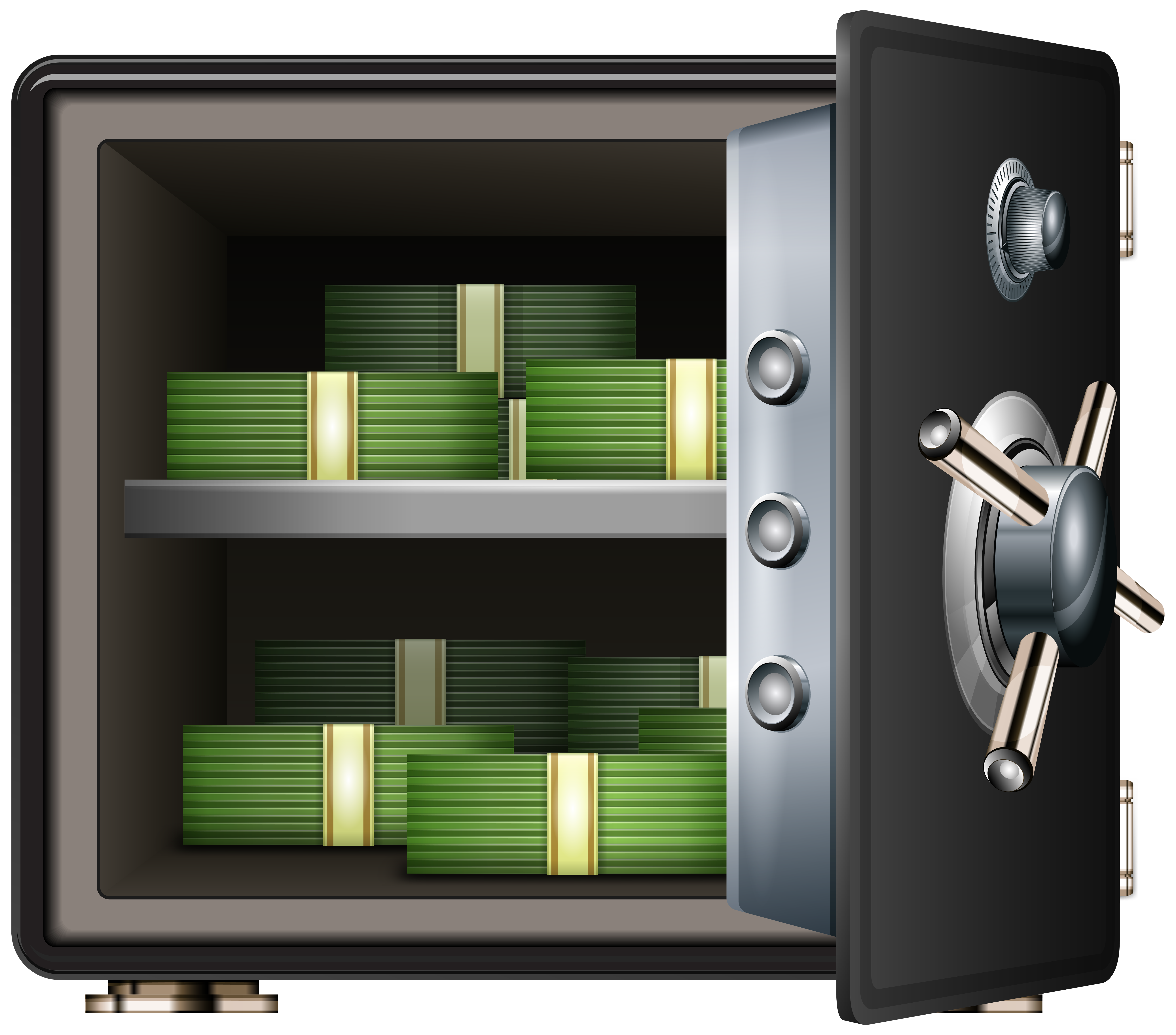 Safe clipart. With money png clip