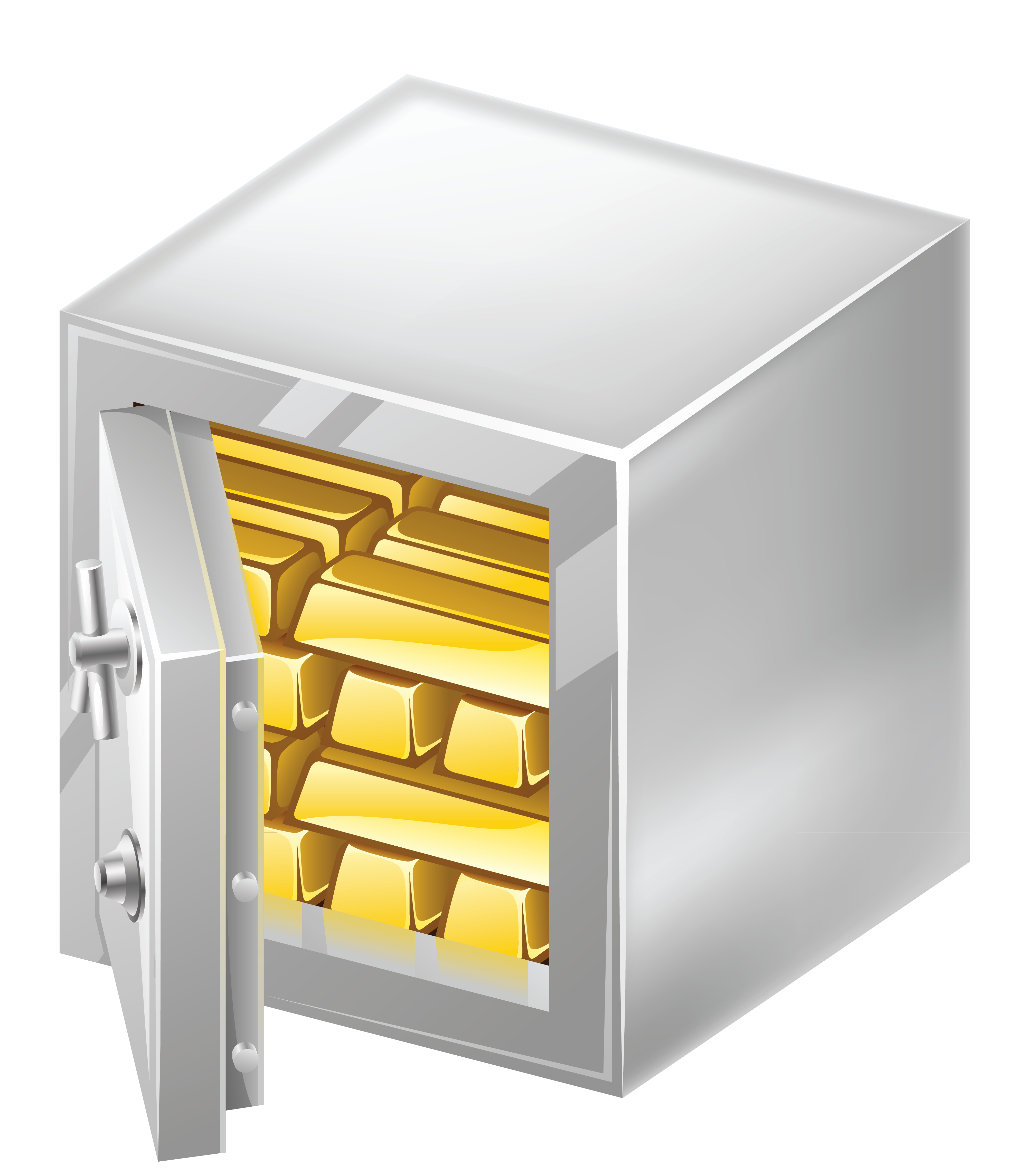 Safe clipart. With gold png picture