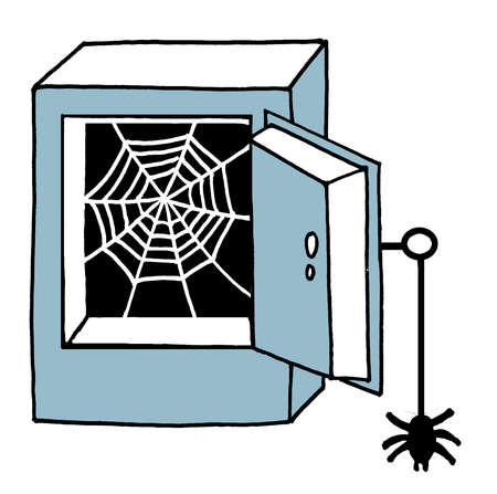 Safe clipart empty. Stock illustration spiderweb inside