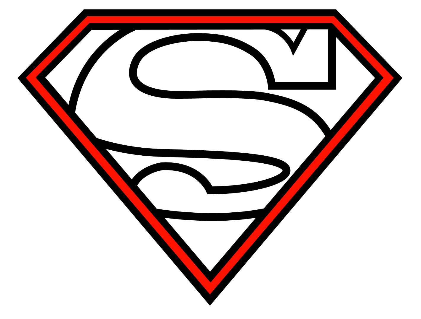 Avalanche drawing easy. Free empty superman logo