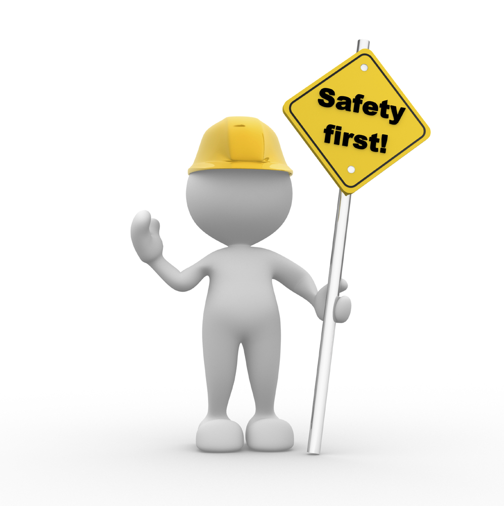 Flagger training in new. Safe clipart safe person vector free stock