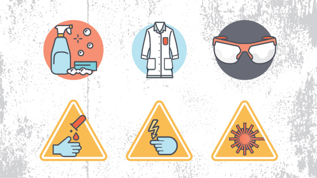 Safe clipart safety guideline. Lab rules and guidelines
