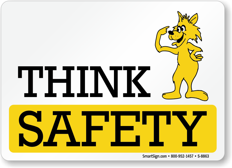 Safe clipart safety signage. Cartoon signs mysafetysign com