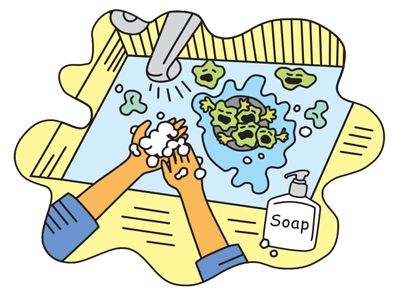 Safe drawing food safety. Free handwashing posters handouts