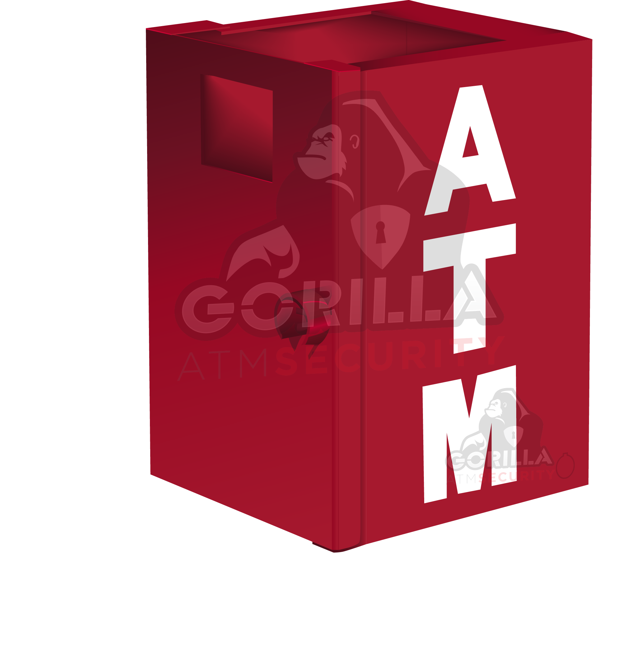 Safe drawing safety box. Gorilla atm security enclosures