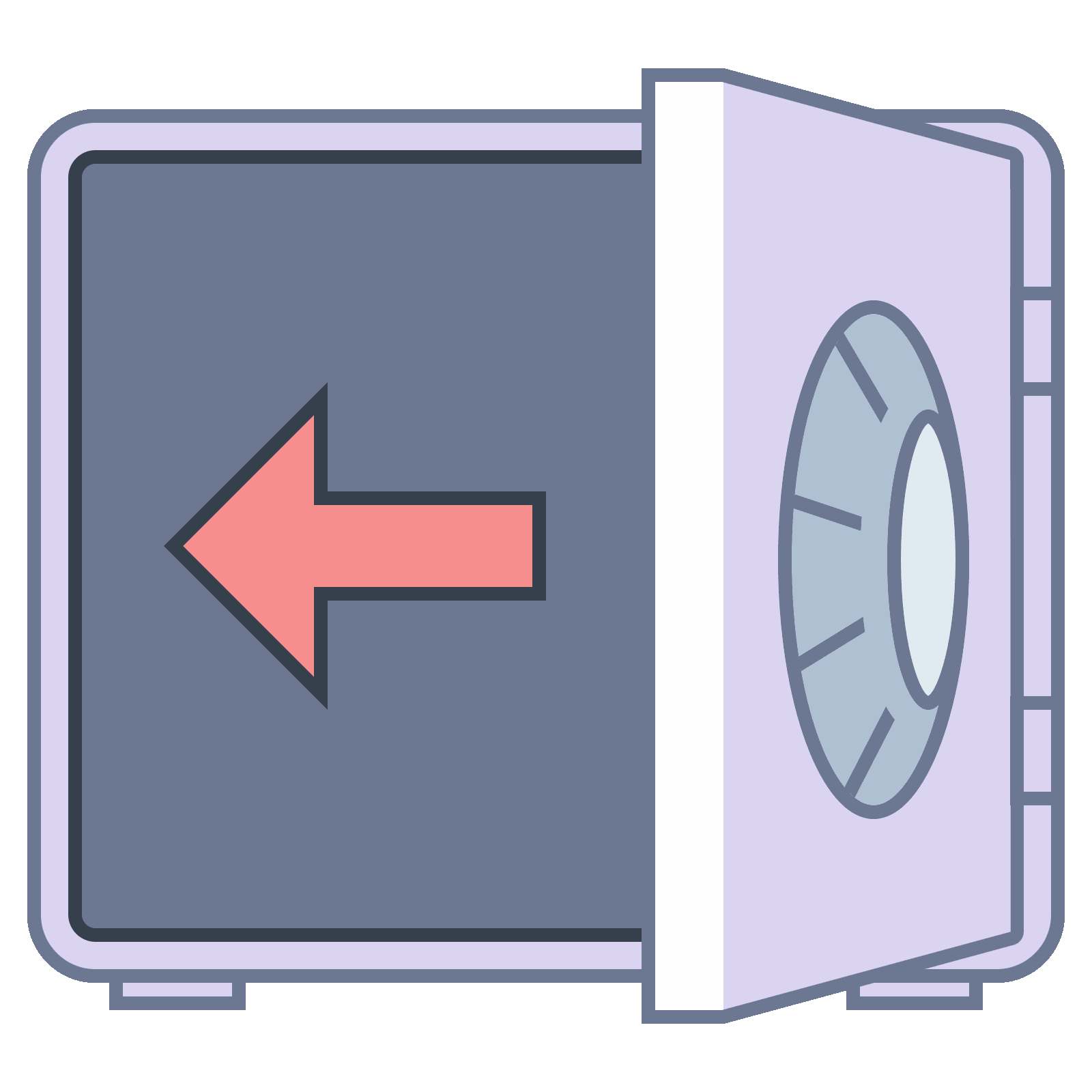 Safe vector dial. Out icon free download