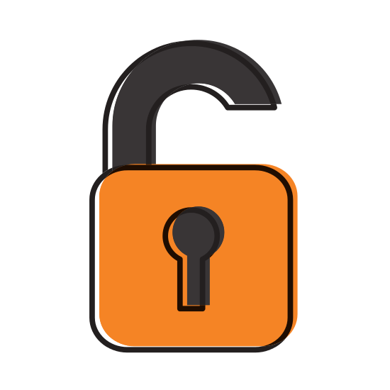 Safe vector padlock. Secure icon icons by