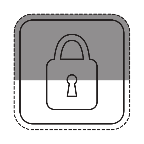 Safe vector padlock. Security badge icon icons