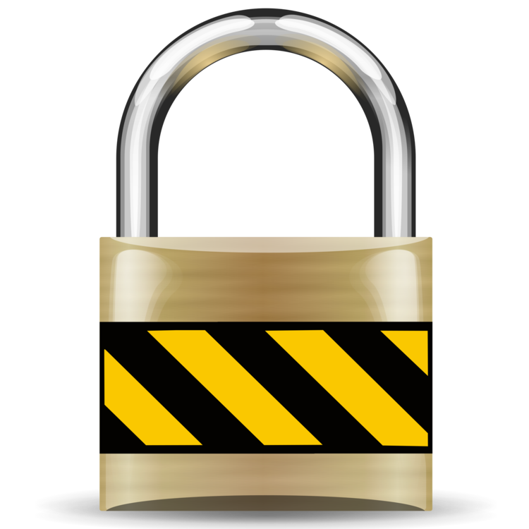 Safe vector padlock. Computer security icons free