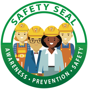 Safety clipart office safety. Of environmental health seal