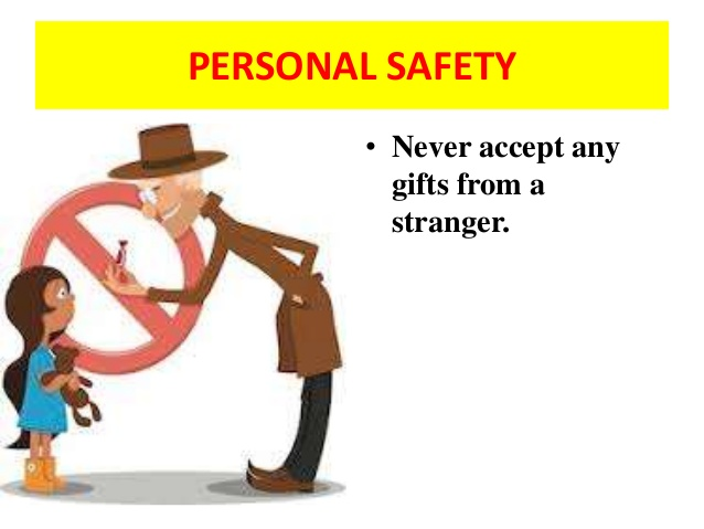 Safety clipart personal safety. Child never accept any