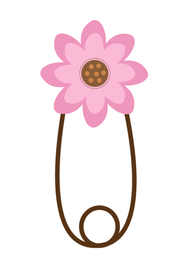 Safety clipart pin. Baby girl clip art