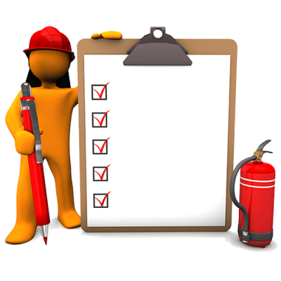 Spring clean for fire. Safety clipart safety checklist banner black and white