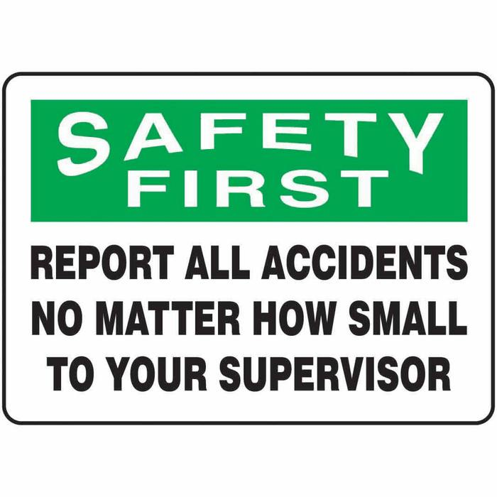 Safety clipart safety matter. Sign first report all