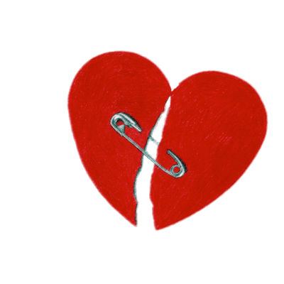 Safety pin heart png. Broken hearts transparent images