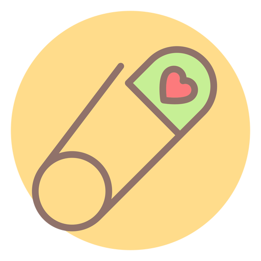 Safety pin heart png. Circle icon transparent svg