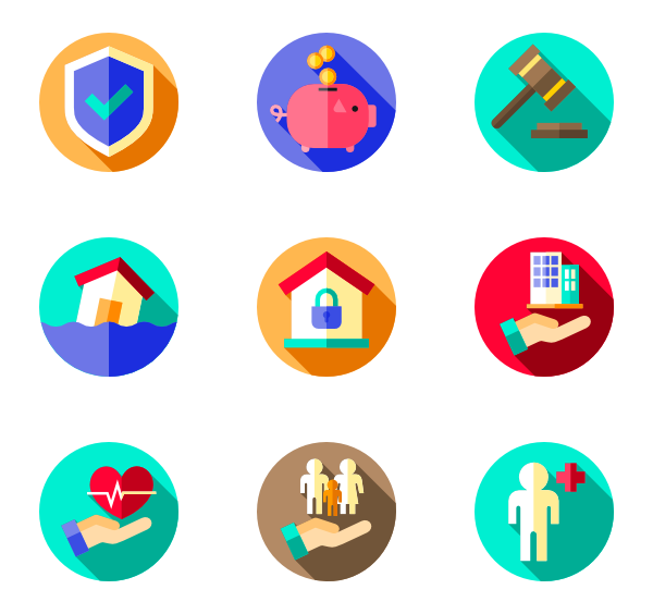 Safety vector. Icons free insurance view