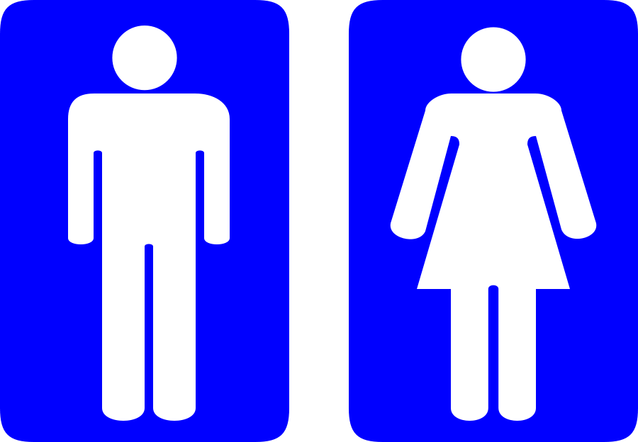 Vector toilet symbol. Free safety images download