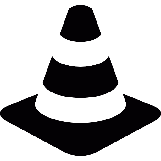 Safety vector cone. Traffic free signs icons