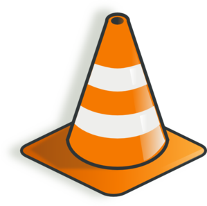 Safety vector cone. Traffic clip art at