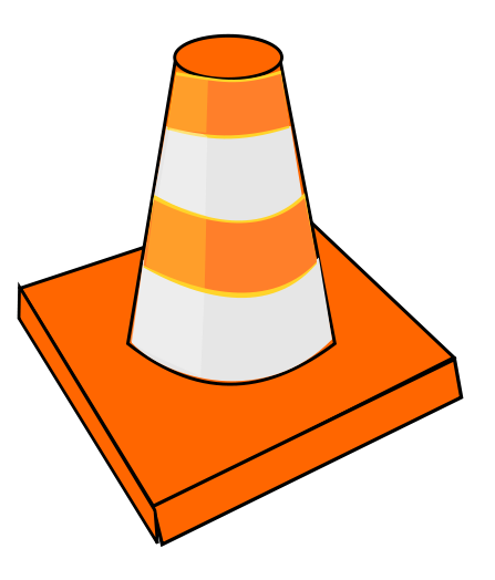 Safety vector cone. Collection of free constructer