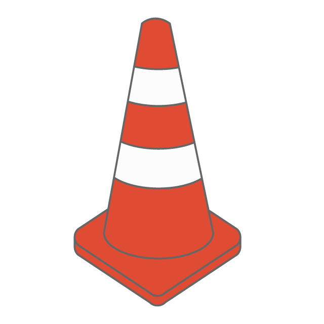 Safety vector cone. Clipart free stock download