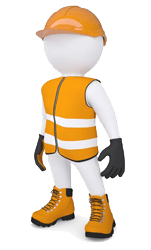 Safety vector man. Encode clipart to base