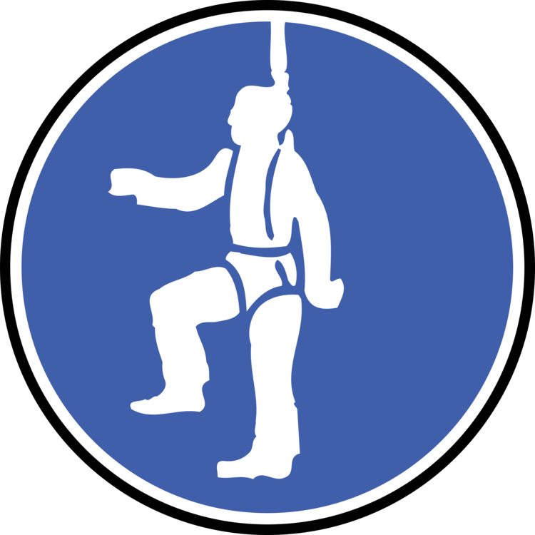 Personal clip art. Protective equipment safety harness