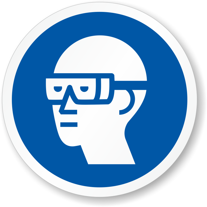 Safety vector protective clothing. Iso mandatory actions labels