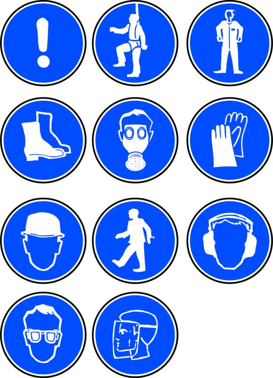 Safety vector protective clothing. Laboratory personal equipment sign