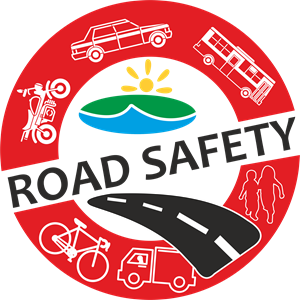 Vector roads logo. Road safety cdr free