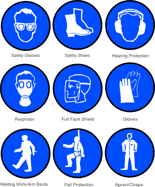 Personal clip vector. Ppe symbols art at